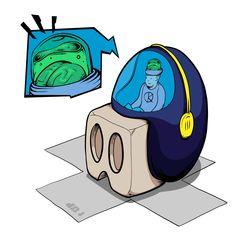 Cube egg by Krane Skull Illustration, B Rain, Montpellier, Crane, Family Guy, Eggs, Sugar, Fictional Characters, Design