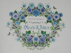 Coloured By Kristi R Sievers Pettit Secret Garden Book