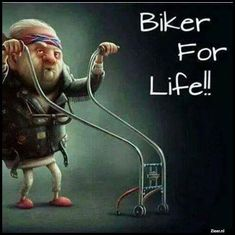 When you're too old to ride your Harley. Cartoon Jokes, Funny Cartoons, Funny Jokes, Hilarious, Senior Humor, Funny Expressions, Biker Quotes, Happy Birthday Messages, Twisted Humor