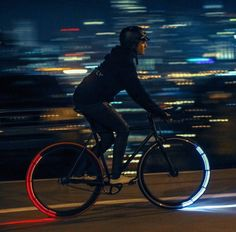 See and Be Seen. Revolights are the first and only bicycle lighting system providing 360º of visibility. Revolights are a legal headlight, smart brake light, and a dramatic increase in your side visibility.