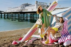 summer loving - Tim Walker shoot for Mulberry