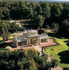 An aerial view of Palm House in the Botanic Gardens of Adelaide South Australia. Adelaide South Australia, Western Australia, City Of Adelaide, Adelaide Sa, Road Trip, Australia Living, Tasmania, Botanical Gardens, Botanical Art
