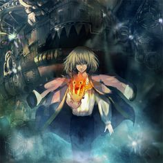 Tags: Anime, Fire, Magic, Howl's Moving Castle, Studio Ghibli, Howl, Sin Hitonatsu