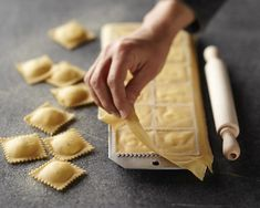 Ravioli Mold with Roller Great quality! I use this mold all the time to make ravioli - it works great! Ravioli stay sealed, no air pockets, and ravioli don't burst during boiling. Pretty shapes, too! Cooking Gadgets, Cooking Tools, Kitchen Gadgets, Kitchen Tools, Cooking 101, Kitchen Utensils, Cooking Fish, Cooking Recipes, Cooking Bacon