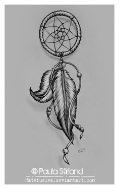 Dreamcatchers have been around for at least a few thousand years. Check out these wolf dreamcatcher tattoo designs and more! Trendy Tattoos, Love Tattoos, Beautiful Tattoos, New Tattoos, Small Tattoos, Tatoos, Brown Tattoos, Awesome Tattoos, Feather Tattoos