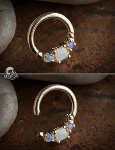 Body Jewelry Mince Gem narine Hoop cristal vis Stud Nez Piercing Nez Anneau