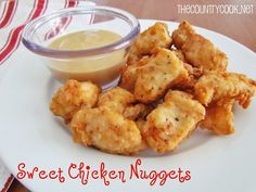 Sweet Chicken Nuggets AKA: Chic Fil A ( I made these with Jules Gluten Free Flour ) My FAMILY WAS AMAZED! It has been added to my Recipe Box!They were Amazing!