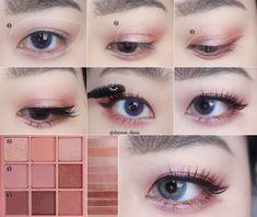 Pin by Amara on Makeup in 2019 Korea Makeup Tutorial, Korean Makeup Tutorial Natural, Asian Makeup Tutorials, Korean Makeup Tips, Asian Eye Makeup, Natural Eye Makeup, Makeup Eye Looks, Korean Makeup Look, Ulzzang Makeup Tutorial