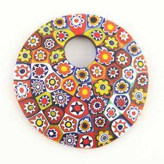 Color Splash Millefiori pendant- large round