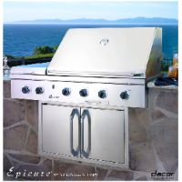 """Milcarsky's Appliance Centre' ~ Dacor EPICURE™ 52"""" Outdoor Grill Lp Stainless W/ Chrome Trim"""