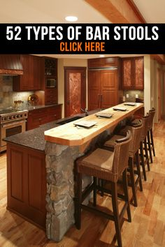 52 Types of Counter & Bar Stools for your kitchen and/or entertainment areas.