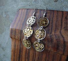 steam-punk earrings