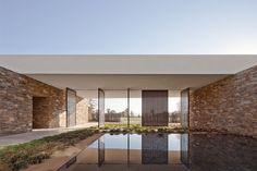 Water court inside the Desert Panorama House