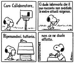 Le lezioni di Scrittura di Snoopy » Lettere di rifiuto /Le nostre esigenze attuali... #scrittura #snoopy