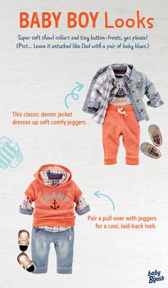 Our baby boy dress & new child clothes are severely adorable. Baby Boy Fashion, Toddler Fashion, Toddler Outfits, Baby Boy Outfits, Kids Outfits, Kids Fashion, Cute Babies, Baby Kids, Cute Kids