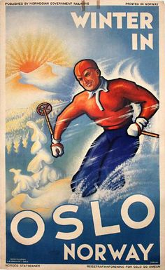 travel to norway poster | PosterTeam.com - Large Poster Photo: Winter in Oslo