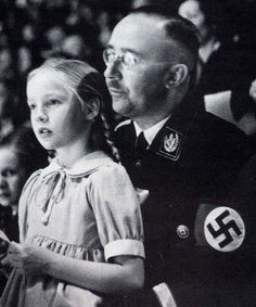 Heinrich Himmler, chief of the SS.  He's here with his daughter Gudrun Himmler, who was herself a neo-Nazi after the war.