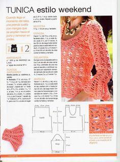 Grace y todo en Crochet: TUNICA ESTILO FIN DE SEMANA...  TUNIC STYLE WEEKEN...