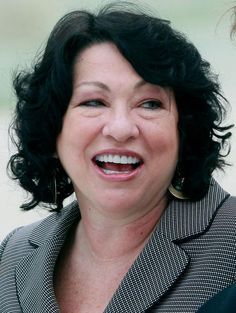 Sonia Sotomayor at formal investiture as justice of the US Supreme .
