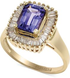 Violette by EFFY Tanzanite (1-1/2 ct. t.w.) and Diamond (1/2 ct. t.w.) Ring in 14k Gold on shopstyle.com
