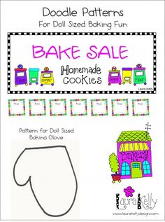 Camp Doll Diaries – Doll Sized Bake Sale with Button Cookies American Girl Food, American Girl Crafts, Girl Doll Clothes, Girl Dolls, Barbie Doll, Diy Doll Food, Ag Doll House, Og Dolls, Doodle Patterns