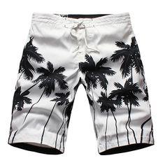 Summer Seaside Quick Drying Transpirable Loose Casual Holiday Playa Shorts para hombre
