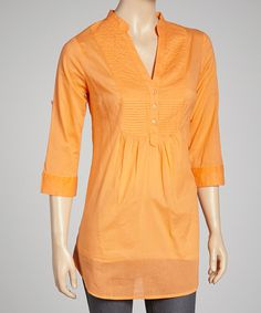 Take a look at this Orange Tunic by Magazine Clothing on #zulily today!