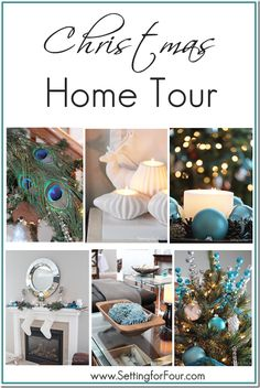 Welcome to my Christmas Home Tour ! Lots of DIY decor ideas for inside and out! www.settingforfour.com