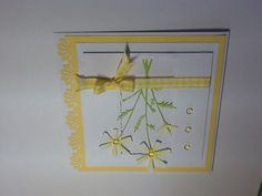cheerful little card made from Memory Box  dies
