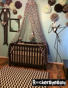Baby nursery themes - 14 Inspired Baby Room Nightmare Before Christmas Interior for This Season – Baby nursery themes Baby Bedroom, Baby Boy Rooms, Baby Boy Nurseries, Room Baby, Nursery Room, Girl Room, Baby Boys, Christmas Interiors, Christmas Bedroom