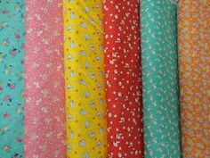 Sweet and bright Old Fashion fabrics Toy Box Miniatures by Sara Morgan for Washington Street Studio