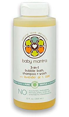 Baby Mantra 3in1 Bubble Bath Shampoo  Wash with Lavender Oil  Aloe >>> Want to know more, click on the image.