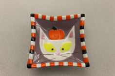 Halloween fused glass bowl