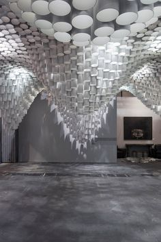 Paper Chandeliers by Cristina Parreño Architecture with MIT Posted by Erin on March 7th, 2013 Cristina Parreño Architecture with MIT have created Paper Chandeliers, an installation for the Art Fair ARCO in Madrid.