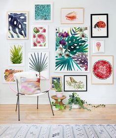 colourful wall gallery, art gallery, tropical art