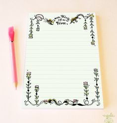 One Thing at a Time Notepad  Motivational To Do List