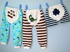 Baby/Toddle PJ bottoms with printable pattern  http://fromanigloo.blogspot.com/2010/06/one-size-fits-many-babytoddler-pj-pants.html