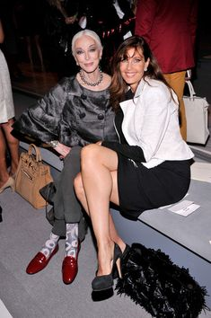 Carmen Dell'Orefice - MBFW: Front Row at Dennis Basso