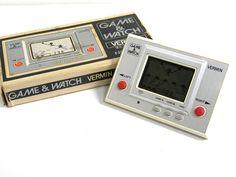 Nintendo Game & Watch Silver Series Vermin MT-03 Boxed 1980 Great Condition F/P #Nintendo
