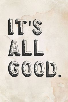It's All Good Canvas Giclee Print