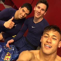 Neymar, Messi, and Suarez