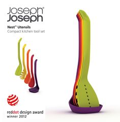 We won a red dot award for our brilliant new Nest Utensils!  We are very proud of that http://www.josephjoseph.com/kitchen-tools/nest-utensils
