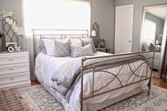 Cozy neutral master bedroom eclecticallyvintage.com