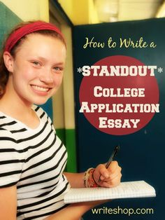Students need to write a college application essay using a strong thesis statement, active voice, and concrete, vivid word pictures.