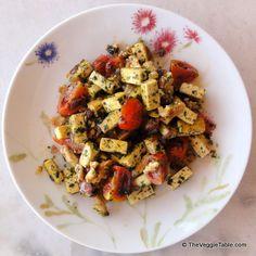 Pesto tofu - https://www.theveggietable.com/blog/vegetarian-recipes/main-courses/pesto-tofu/