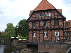 Luneburg, Germany this is where we stayed, as in this was the view out my window.