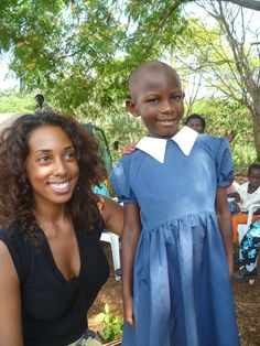 Marisa with Gloria, one of our sponsored children through World Vision