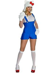 Secret Wishes Womens Hello Kitty Adult Blue Romper Costume Multicolor Large * Continue to the product at the image link.