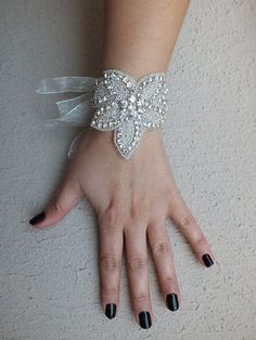 Crystal bracelet, wedding bracelet, bridal jewelry, bracelet, Bridal Rhinestones bracelet on Etsy, $35.00