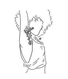 poeticamente flor Cool Art Drawings, Art Drawings Sketches, Art And Illustration, Feminist Art, Minimalist Art, Line Drawing, Doodle Art, Art Inspo, Drawing People